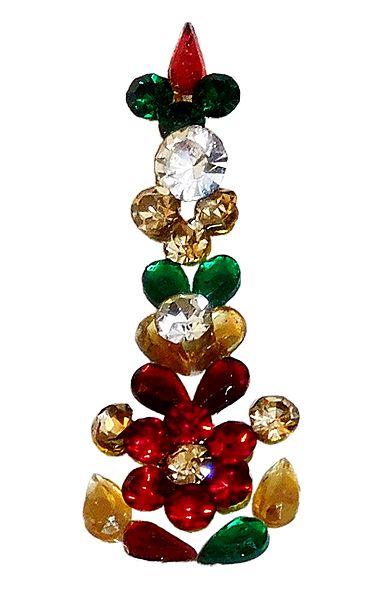 Multicolor Stone Studded Long Bindi