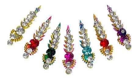 Multicolor Long Stone Bindis