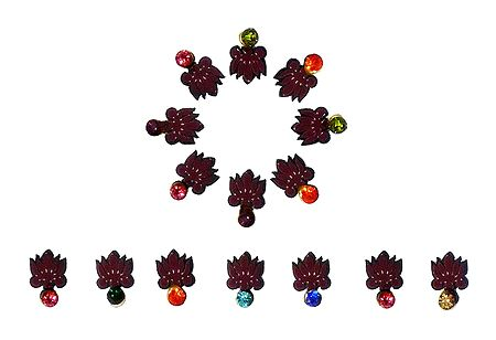 15 Bindis with Multicolor Stone