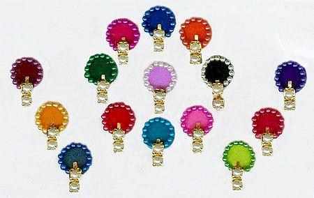 Multicolor Round Bindis
