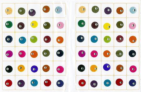 Multicolor Felt Small Round Bindis