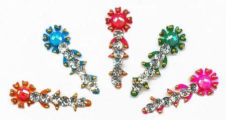 Multicolor Stone Studded 5 Long Bindi