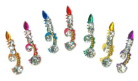 Multicolor Stone Studded 7 Long Bindi