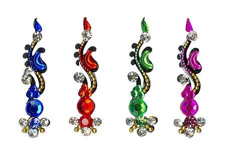 Multicolor Stone Studded Designer Bindis
