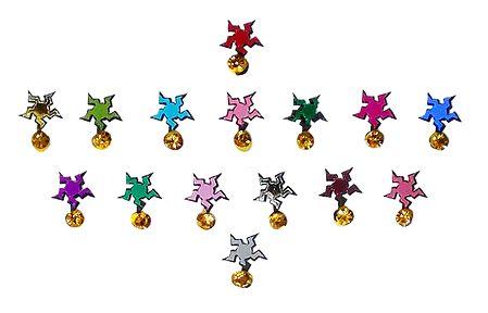 15 Stone Studded Multicolor Star Bindis