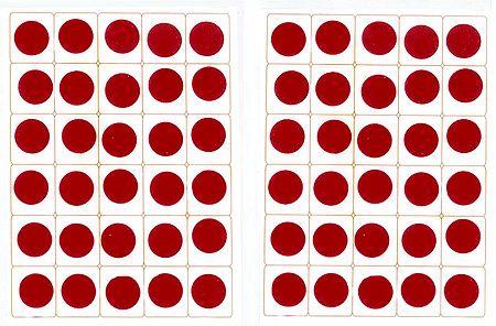 Red Felt Round Bindis