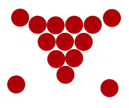 14 Red Felt Round Bindis