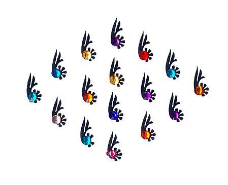Multicolor Small Bindis