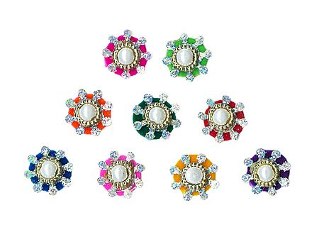 Multicolor Small Round Bindis