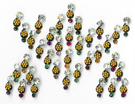 Multicolor Stone Studded Small Bindis