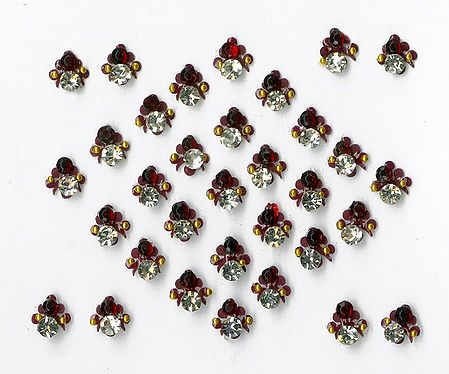 Maroon Stone Studded Small Bindis