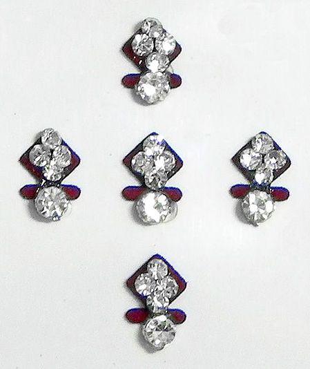 White Stone Studded Small Bindis