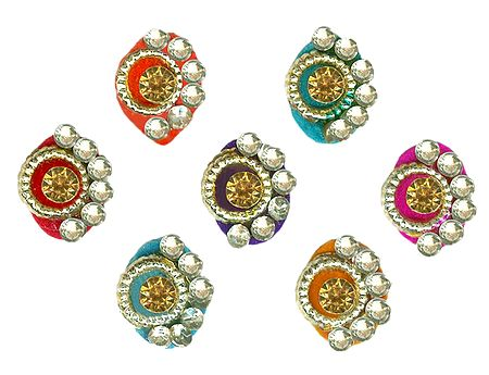 Colorful Designer Stone Bindis