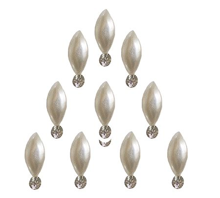 10 Bindis with White Stone