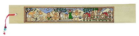 Working Villagers - Tribal Painting Bookmark