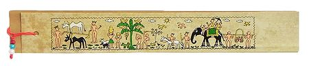 Rural Scene - Tribal Painting Bookmark