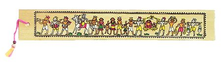 Procession - Tribal Painting Bookmark