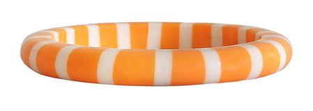 White Stripe on Saffron Acrylic Bracelet