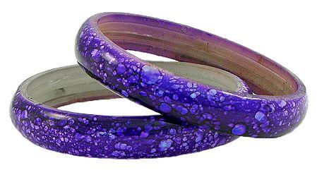 Pair of Purple Acrylic Bangles