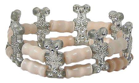 Acrylic Beaded Stretch Bracelet