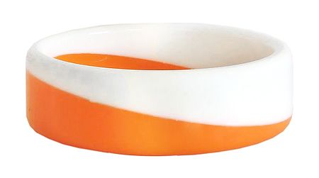 Saffron with White Acrylic Bracelet
