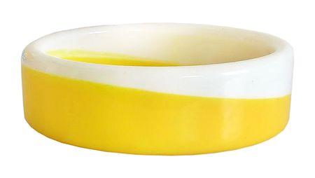 Yellow with White Acrylic Bracelet