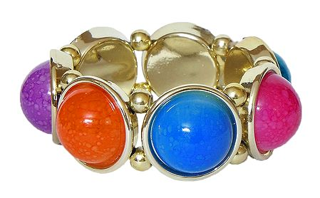 Multicolor Acrylic Stretch Bracelet