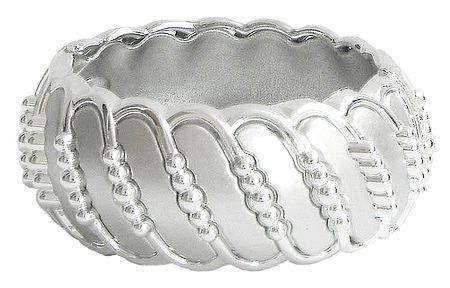 Light Grey Acrylic Hinged Bracelet