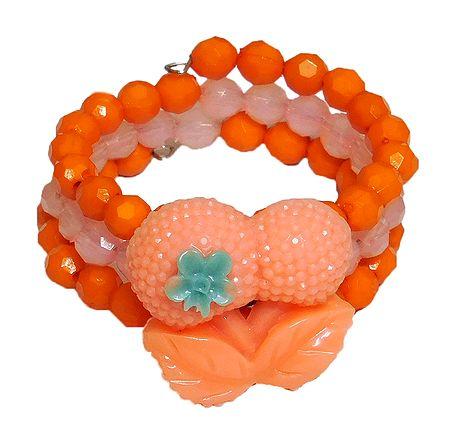 Saffron Beaded Adjustable Bracelet