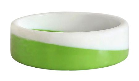 Green with White Acrylic Bracelet