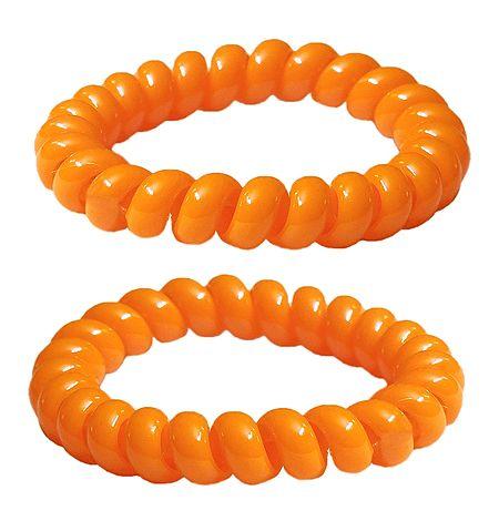 Pair of Acrylic Saffron Stretch Bracelet