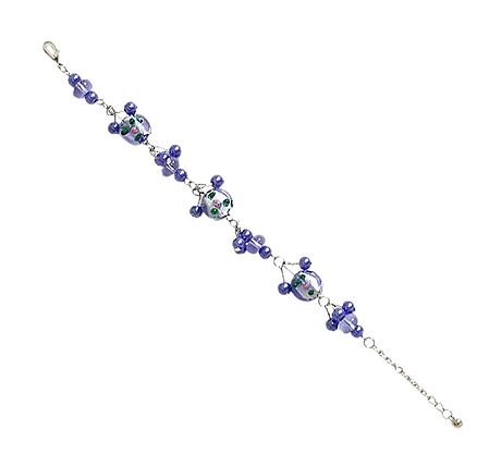Charm Bracelet with Blue Beads