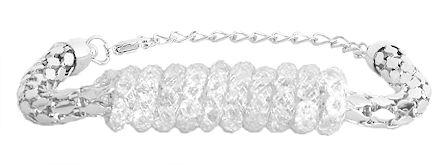 Stone Studded Metal Charm Bracelet