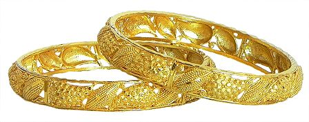 Pair of Gold Plated Bangles