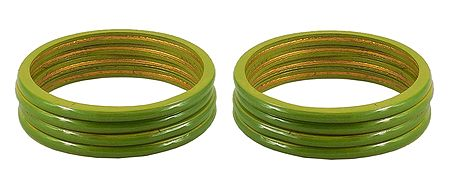 Set of 2 Olive Green Lac Churis