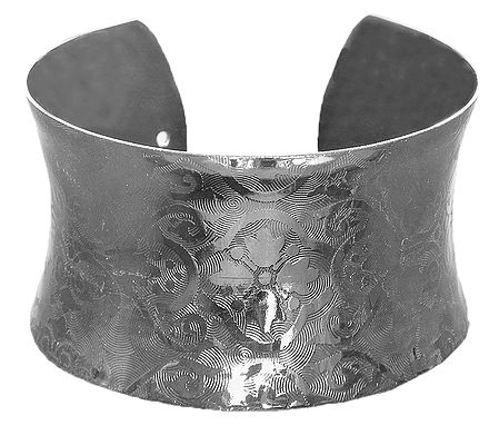 Carved Metal Cuff Bracelet