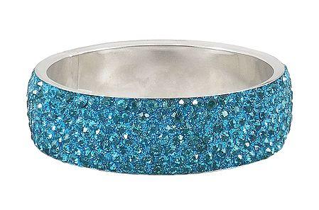Light Cyan Blue Stone Studded Metal Bracelet