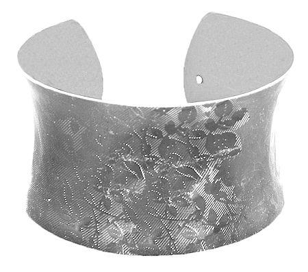 Black Carved Metal Cuff Bracelet