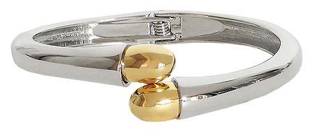 Designer Metal Hinged Bracelet