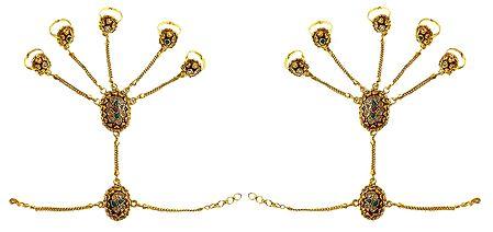 Pair of Polki Ring Bracelet