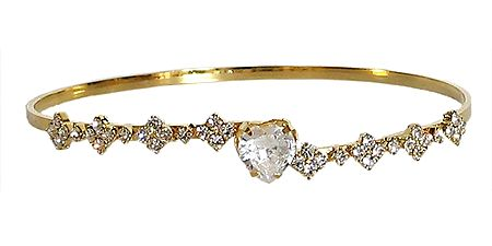Gold Plated and Stone Studded Bracelet