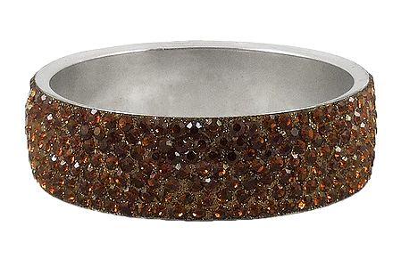 Brown Stone Studded Metal Bracelet
