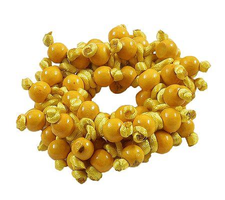 Yellow Beaded Stretch Bracelet