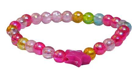 Pink Beaded Stretch Bracelet