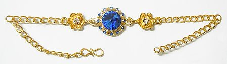 Blue Stone Studded Tennis Bracelet
