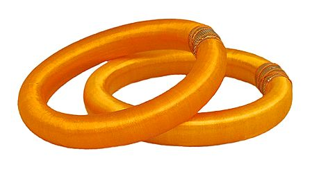 Pair of Yellow Thread Bangles