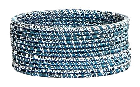 Dark Cyan with White Thread Bangles