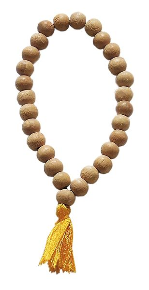 Beige Wooden Beads Stretch Bracelet