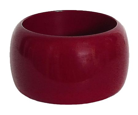 Red Lacquered Wooden Bracelet