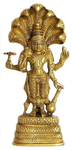 Lord Vishnu Standing Under the Hood of Sheshanaga